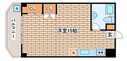 兵庫県神戸市中央区北野町2丁目の賃貸マンションの間取り