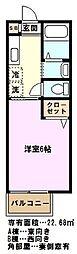 埼玉県さいたま市緑区大字大崎の賃貸アパートの間取り