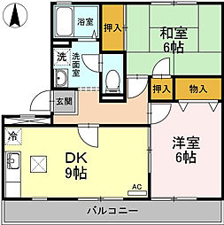 神奈川県相模原市緑区西橋本1丁目の賃貸アパートの間取り