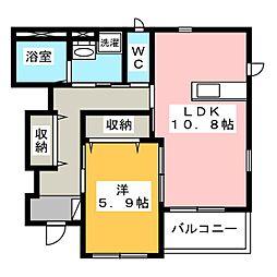 愛知県名古屋市港区正徳町1の賃貸アパートの間取り
