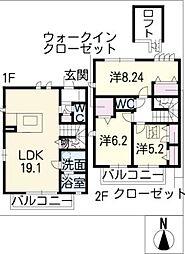 [タウンハウス] 愛知県名古屋市天白区弥生が岡 の賃貸【/】の間取り