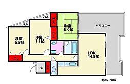 プレセランス長住[2階]の間取り