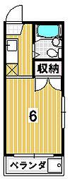 サン上田[202号室]の間取り