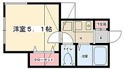 カーサベルテ[2階]の間取り