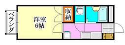 パストラルハウスA棟[205号室]の間取り
