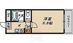 フローラル横堤[4階]の間取り