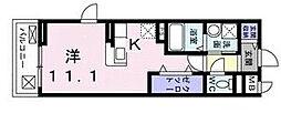 ROOMs六甲 2階ワンルームの間取り