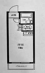 ライオンズマンション横浜[506号室]の間取り
