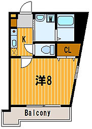 神奈川県横浜市神奈川区松見町3丁目の賃貸マンションの間取り