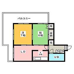 中沢CHG[3階]の間取り