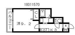 ディアコート クニ[2階]の間取り