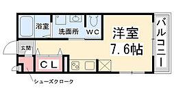 フロントハウス[A203号室]の間取り
