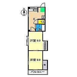 SINA-JYURIME[2階]の間取り