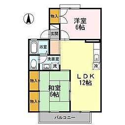 ハーモニック・フィール1 A棟[201 号室号室]の間取り