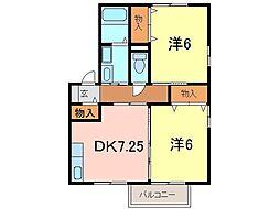 ブライトネス[2階]の間取り