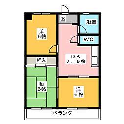 神丘ビルA棟[2階]の間取り