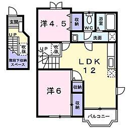 マーベラスT 2 2階2LDKの間取り