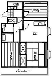 アトリオ城ケ崎[102号室]の間取り