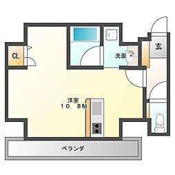 AXIS平尾1番館[6階]の間取り