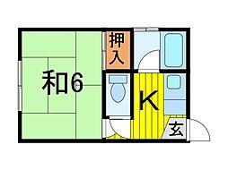 コーポ藤野[2階]の間取り