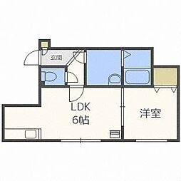 アプレシアール札幌トレス[2階]の間取り