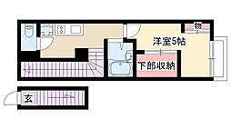 愛知県名古屋市昭和区長池町1丁目の賃貸アパートの間取り