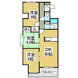 ジェイステージ苫小牧II[2階]の間取り