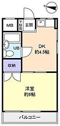 江口ビル[3階]の間取り