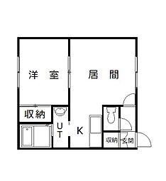 ダイヤハイツ神楽6・9[102号室]の間取り