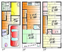 [一戸建] 大阪府摂津市正雀3丁目 の賃貸【/】の間取り