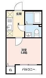 東京都足立区綾瀬5丁目の賃貸アパートの間取り
