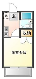 荒井コーポ[2階]の間取り