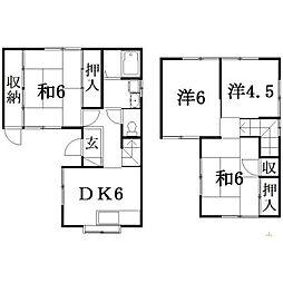 [一戸建] 静岡県浜松市東区下石田町 の賃貸【/】の間取り
