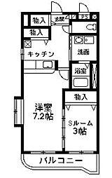NNMマンションB[303号室]の間取り