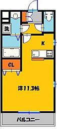 仮)宿郷1丁目マンション 5階1Kの間取り