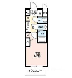 エステムコートディアシティウエスト[3階]の間取り