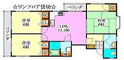 第二川島ビル[301号室]の間取り