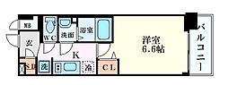 Osaka Metro御堂筋線 東三国駅 徒歩6分の賃貸マンション 5階1Kの間取り