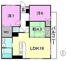 THE 岩崎[2F東 号室号室]の間取り