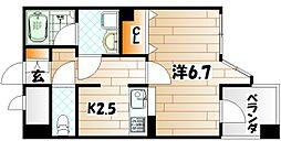 アドバンスM−1[5階]の間取り
