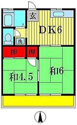 ドエル・S・Y[2階]の間取り