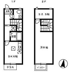 ペンギンハウス[2階]の間取り