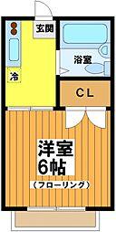 東京都杉並区方南1の賃貸アパートの間取り