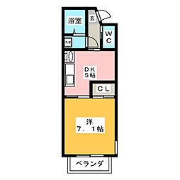 桂山サコウハイツII[1階]の間取り