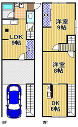 [一戸建] 大阪府大阪市此花区春日出北1丁目 の賃貸【/】の間取り