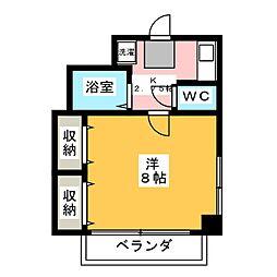 メゾンド岡野[4階]の間取り