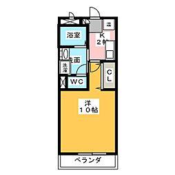 愛知県名古屋市緑区篭山2丁目の賃貸マンションの間取り