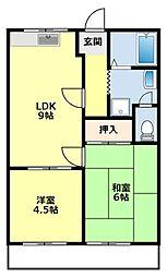 愛知県豊田市大林町11丁目の賃貸アパートの間取り