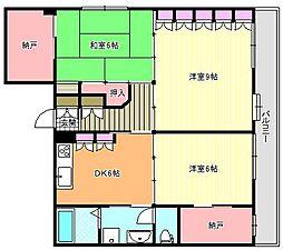 FUJIMOTO第1ビル[3階]の間取り