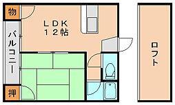 ユニックス2[1階]の間取り